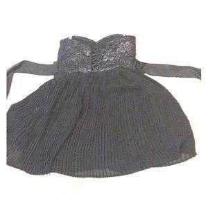Juniors black cocktail dress